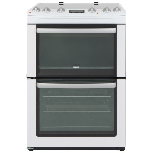 Zanussi ZCV667MWC  60cm Electric Cooker Double Oven & Grill