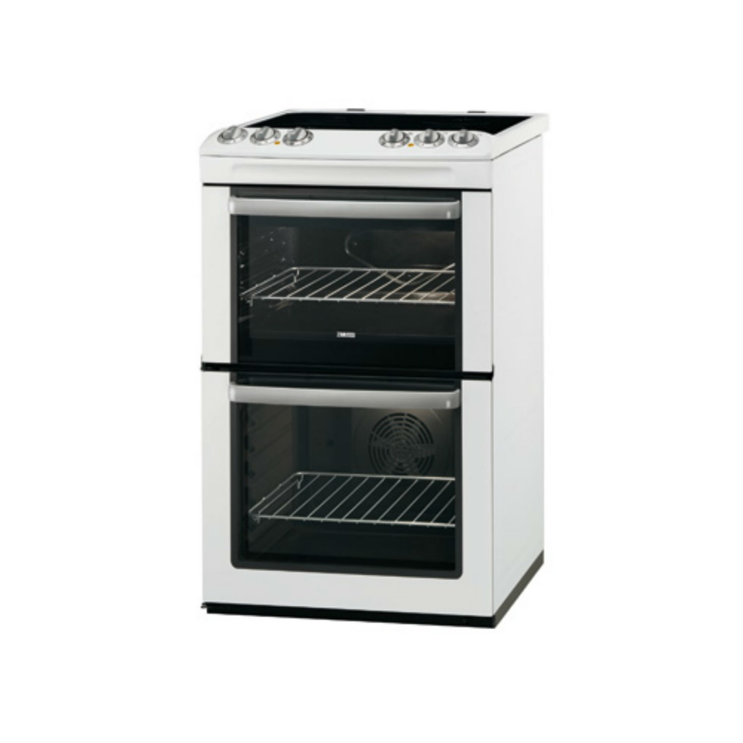 Marvelous Electric Oven And Grill Part - 14: Zanussi ZCV554MWC 55cm Electric Cooker Double Oven U0026 Grill