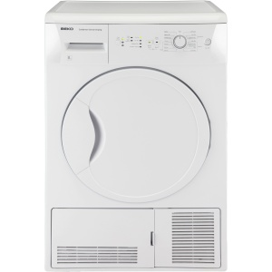 Beko DCSC821W White 8Kg Condenser Dryer With Sensor Drying