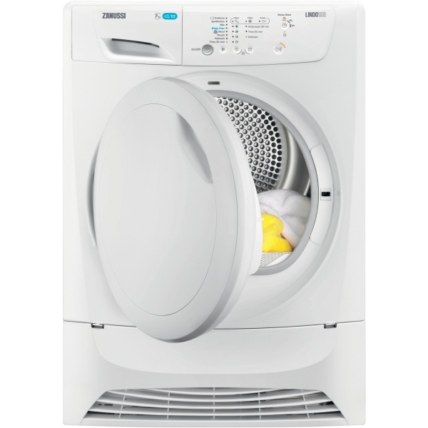 Zanussi ZDP7202PZ 7Kg Condenser Dryer With Sensor Drying