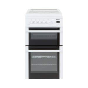 Beko BDVG595W White 50cm Double Oven Gas Cooker