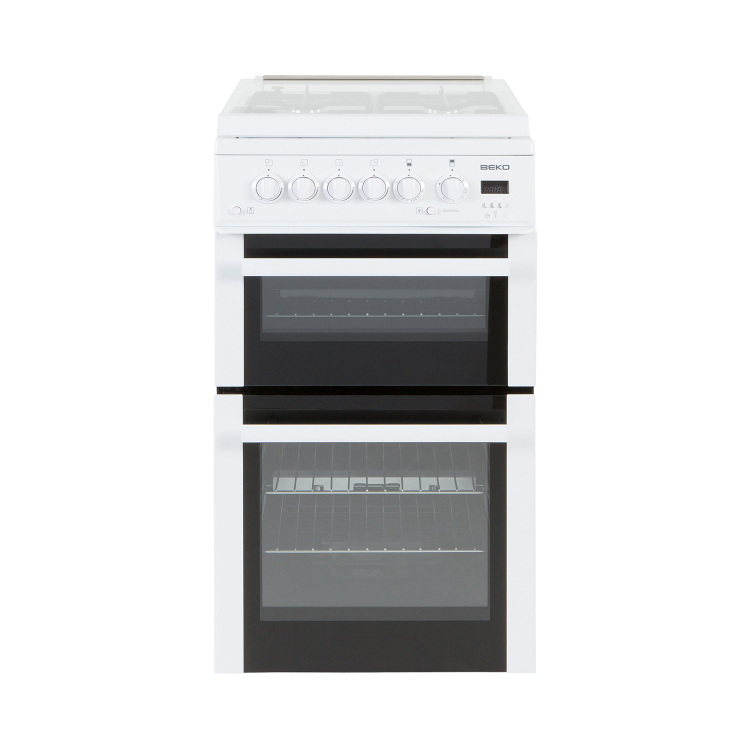 Beko BDVG595W White 50cm Double Oven Gas Cooker THT Direct