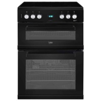 Beko EDC663K Black 60cm Double Oven Electric Cooker