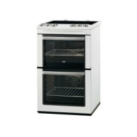 Zanussi ZCV554MW  55cm Electric Cooker Double Oven & Grill