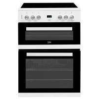 Beko EDC633W 60cm Double Oven With Ceramic Hob