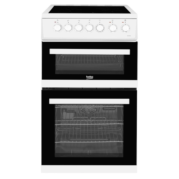Beko EDVC503W Double Oven with Ceramic Hob